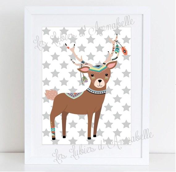 Indian Or Tribal Deer Poster