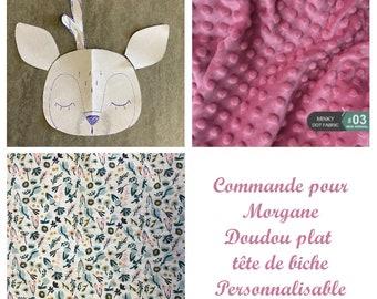Order for Morgane Doudou sensory dish Doe toy 1st age CUSTOMIZABLE
