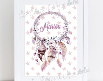 Dream catcher Indian customizable A4 poster