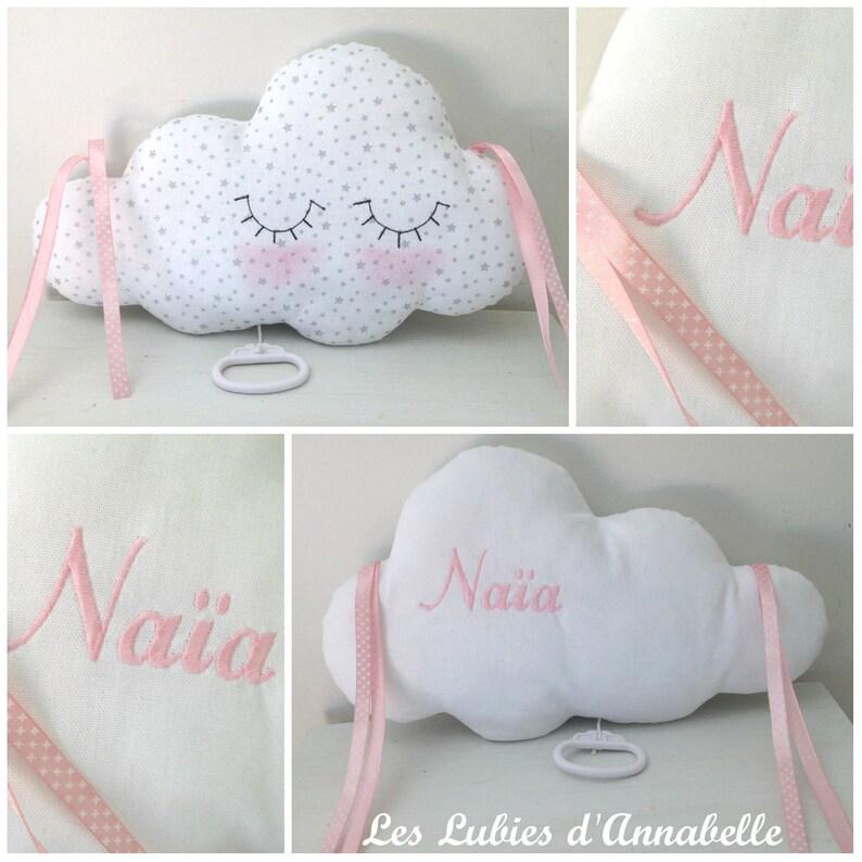 Mobile musical ou décoration de lit de chambre bébé - Créatrice ETSY : LesLubiesdAnnabelle