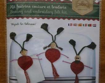 "Sewing and embroidery ""Magnets beets"" felt Kit"