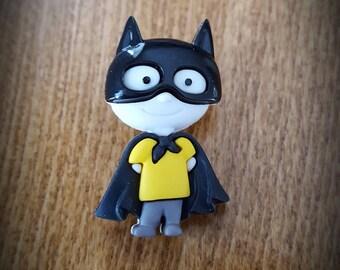 Button child polyester batman costume
