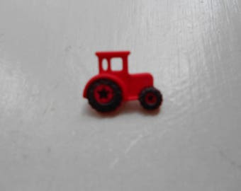 Decorative button, Red Tractor shape