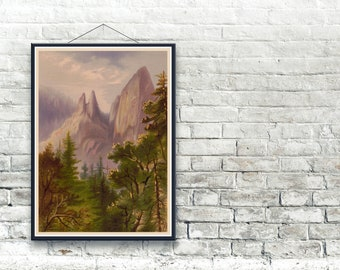 Cathedral Spires, Yosemite National Park 1871 Fine Art Print