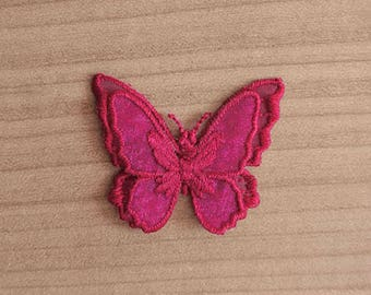 Embroidered Butterfly sewing or craft fushia. Sold individually. For making wedding jewelry, accessories or for sewing
