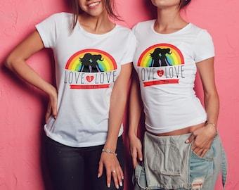 Gay Pride  Love is Love Rainbow  Lesbian/GayBi/trans LGBT Male /Female