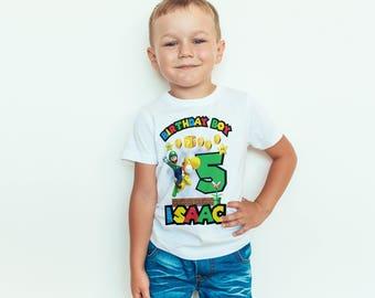 Super Mario Luigi and Yoshi  birthday Kids  T-Shirt, Childrens Toddlers T Shirt Top.