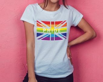 Gay Pride TShirt Rainbow  Lesbian/GayBi/trans LGBT Male /Female