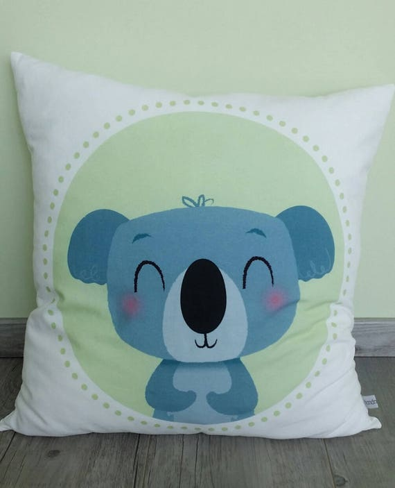 Pillow Kid Koala Child Room Decoration Pillow Etsy Mesmerizing Decorate Your Own Pillow