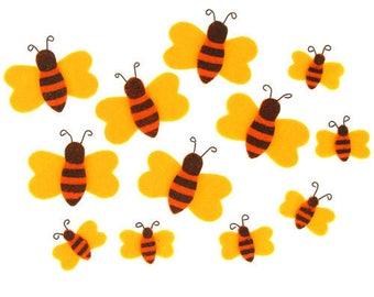 Matching felt bees 12pcs