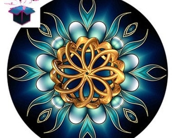 1 glass cabochon to choose from by mandala theme size