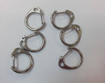 Silver size 6 carabiners 2.6x2.2mm