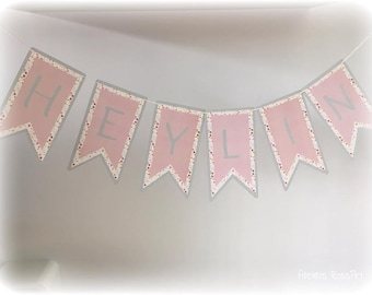 Pennant for Garland to personnalsier number of letter - forest animals Theme