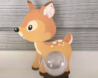 10 boxes with BAMBI ball 5cm - themed animal forest baptism
