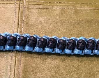 "Cobra Weave Skull 550 paracord bracelet 8 1/2"" wrist size"