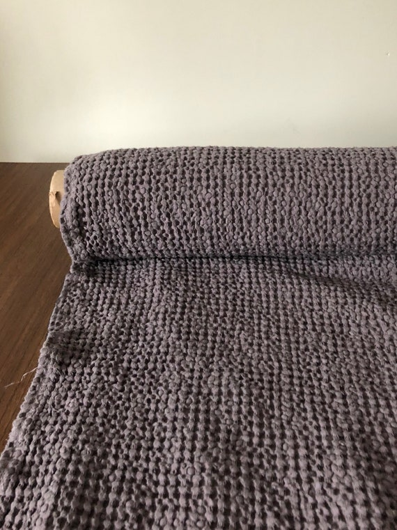 kitchen spa towel 88 EXTRA WIDE fabric bath towel Waffle natural LinenCotton fabric BGO137 Dark Grey 250g225cm fabric by the metre