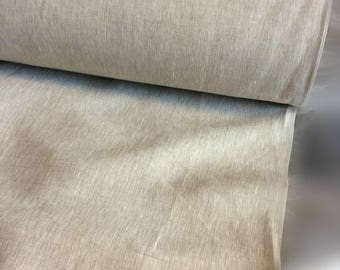 100 % EXTRA wide natural LINEN fabric, 200g/260cm width fabric by the metre, bedding linen, bedspread, sewing, linen top fabric by the yard,