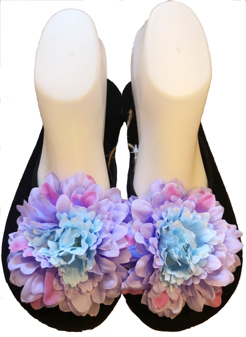 e844c049560e2 Chic-Mild Handmade Fashion Beautiful Purple Flowers Flat Flip Flops Sandals