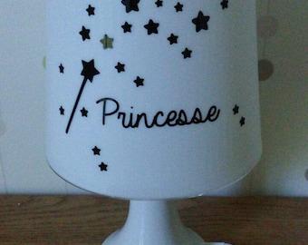 Personalized Princess bedside lamp