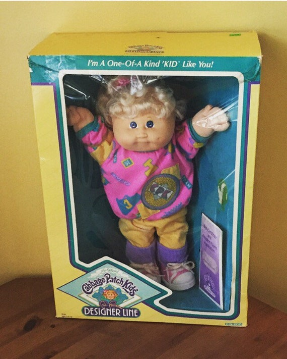 1989 Cabbage Patch Kid Designer Line, in Box, with Birth Certificate!