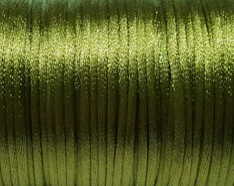 Kiwi Green 2mm Satin cord (5 m)