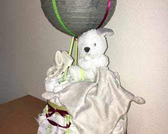 Hot Air Balloon Diaper Cake Baby Shower Centerpiece Gift Other Etsy