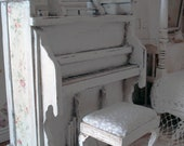 Miniature dollhouse upright musical piano with bench dollhouse piano 1 12 scale upright dollhouse Piano plays music