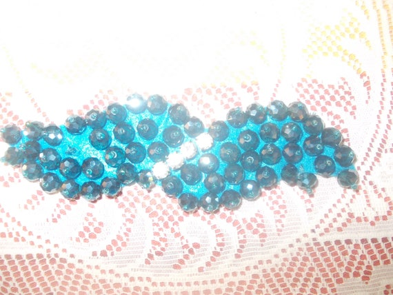 Applique blue beading in the shape of wave thousand a tidy etsy