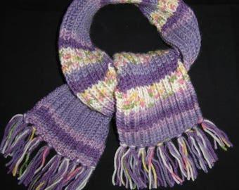 6b9db44f038 écharpe petite fille multicolore tons violet
