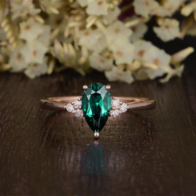 Layaway Plan for Dylan Antique Lab Emerald Ring US 8