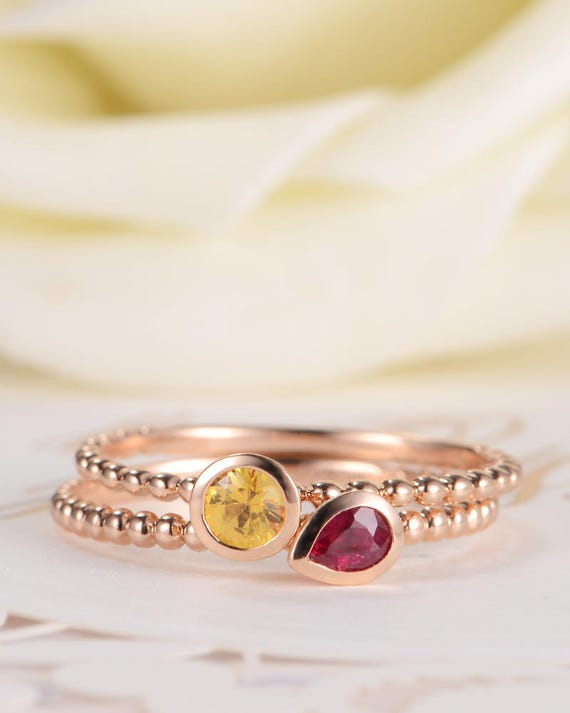 Ring Aquamarin Perle oder Rubin Perle  925 Sterling Silber  ANTIK STYLE