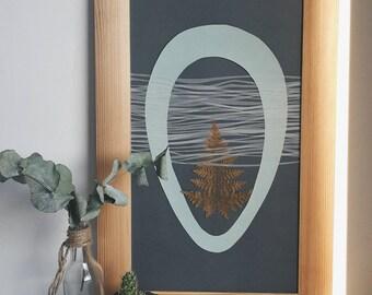Handmade, Papier geschnitten, erstellt im minimalistischen Stil, Gerbarium, Natur, Geburtstagsgeschenk, Papierschnitt, Liebe Geschenk, Wand-Dekor