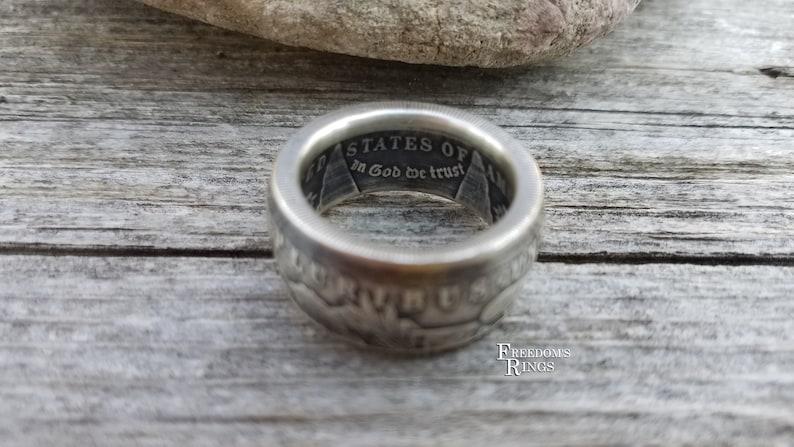 1921 Morgan Silver Dollar King of Coins Coin Ring 1878-1904