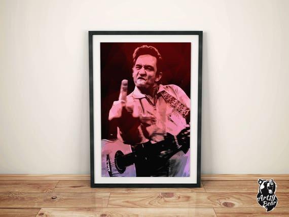 Johnny Cash Poster Johnny Cash Art Johnny Cash Print Music | Etsy