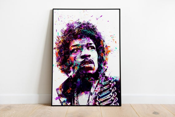 A0 A1 A2 A3 A4 Sizes Jimi Hendrix Vintage Large CANVAS Art Print