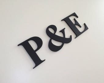 Letters for wedding - initials - decorative urn