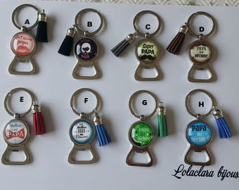 key ring bottle opener for dads by lolaclarabijoux