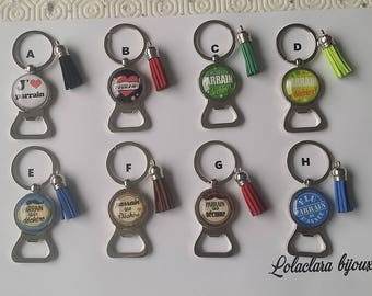 key ring bottle opener for patrons by lolaclarabijoux