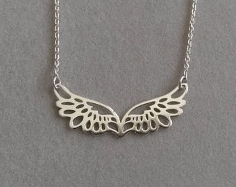 925 sterling silver angel wing necklace