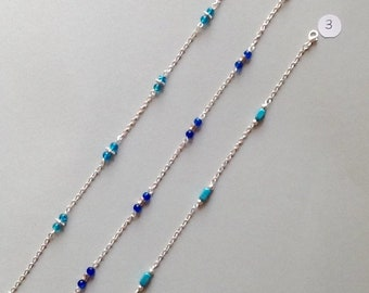 Blue ankle chain