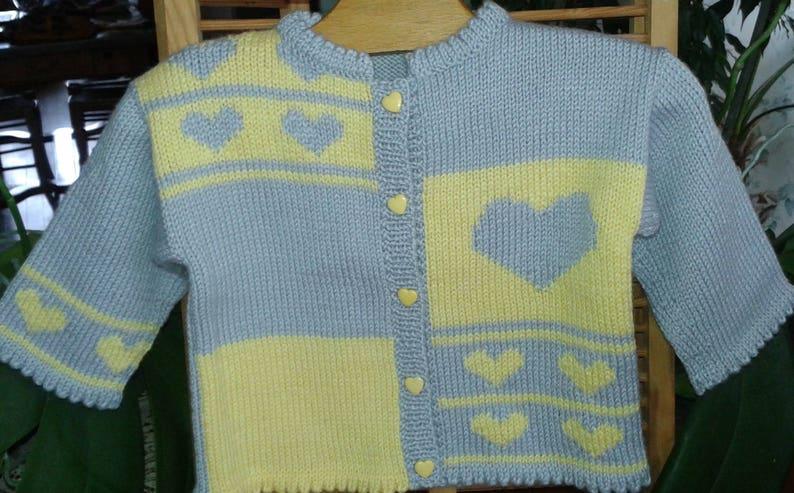 e95c8957aa4cb GILET veste BEBE fille 12 mois tricot fait main laine gris