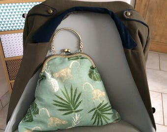 Vintage trendy bag clip clasp purse bag handbag
