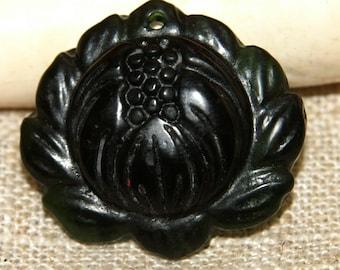Green Jade Lotus Flower genuine 22 mm approx