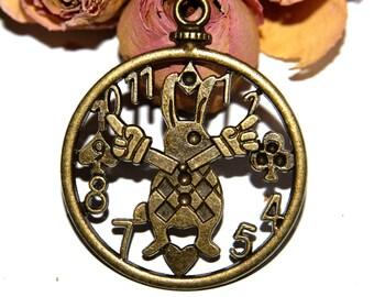 30X03mm bronze metal Pocket Watch pendant!