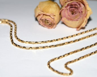 Rose gold chain necklace retro mechanical link