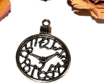 30X03mm Silver Pocket Watch pendant!