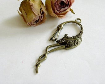 Pendant bronze pink Flamingo pendant size: about 8 cm