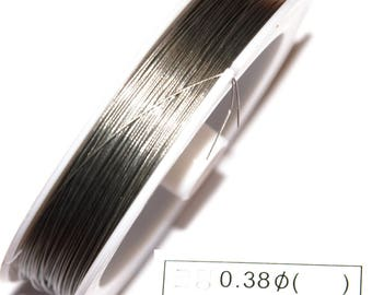 100 M of CABLE gray steel 0.38 MM thick