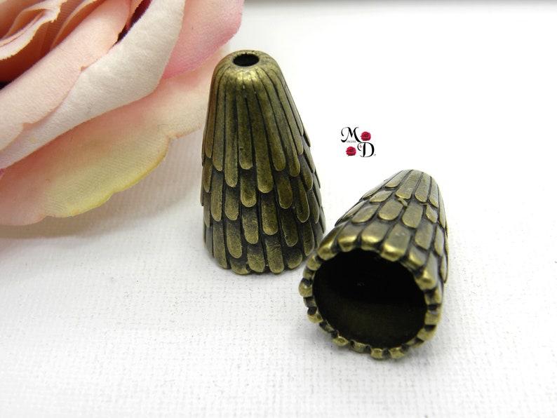 beaded trapeze cone trapeze cone cup pearl cone cap cup bronze tube cone Indian cone cap bronze cone cap