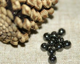 set of Hematite stone beads real diameter: 8 mm